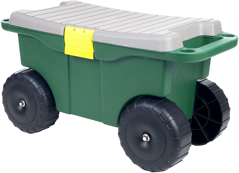 """Pure Garden 75-MJ2011 20"""" Plastic Garden Storage Cart & Scooter"""