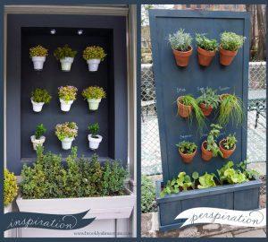 Wood Panels Vertical Pot Garden
